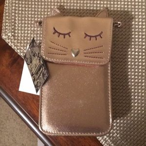 Cat crossbody purse